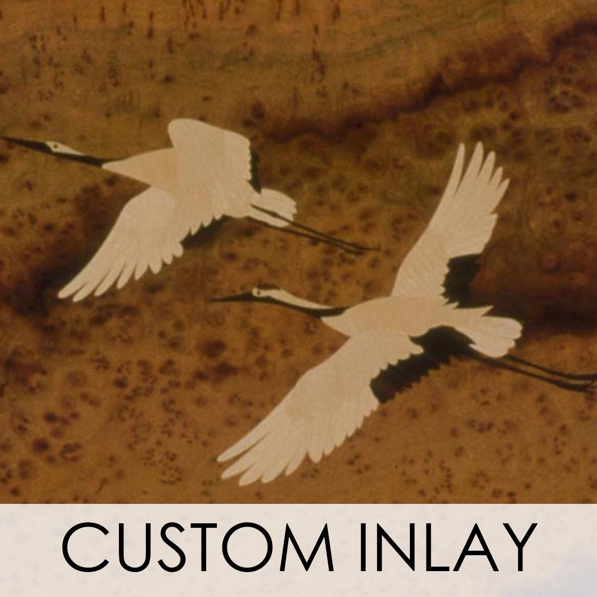 Custom Inlay Wood Veneer Wallcovering