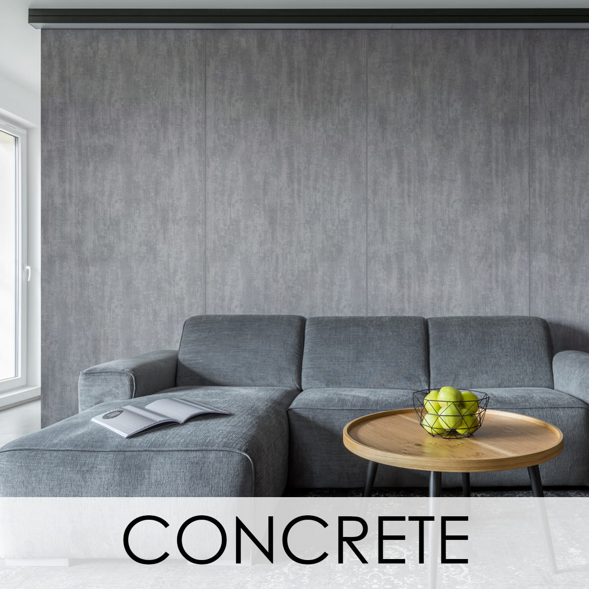 LEVEY PVC Free Glass Fibre Wallcoverings Concrete