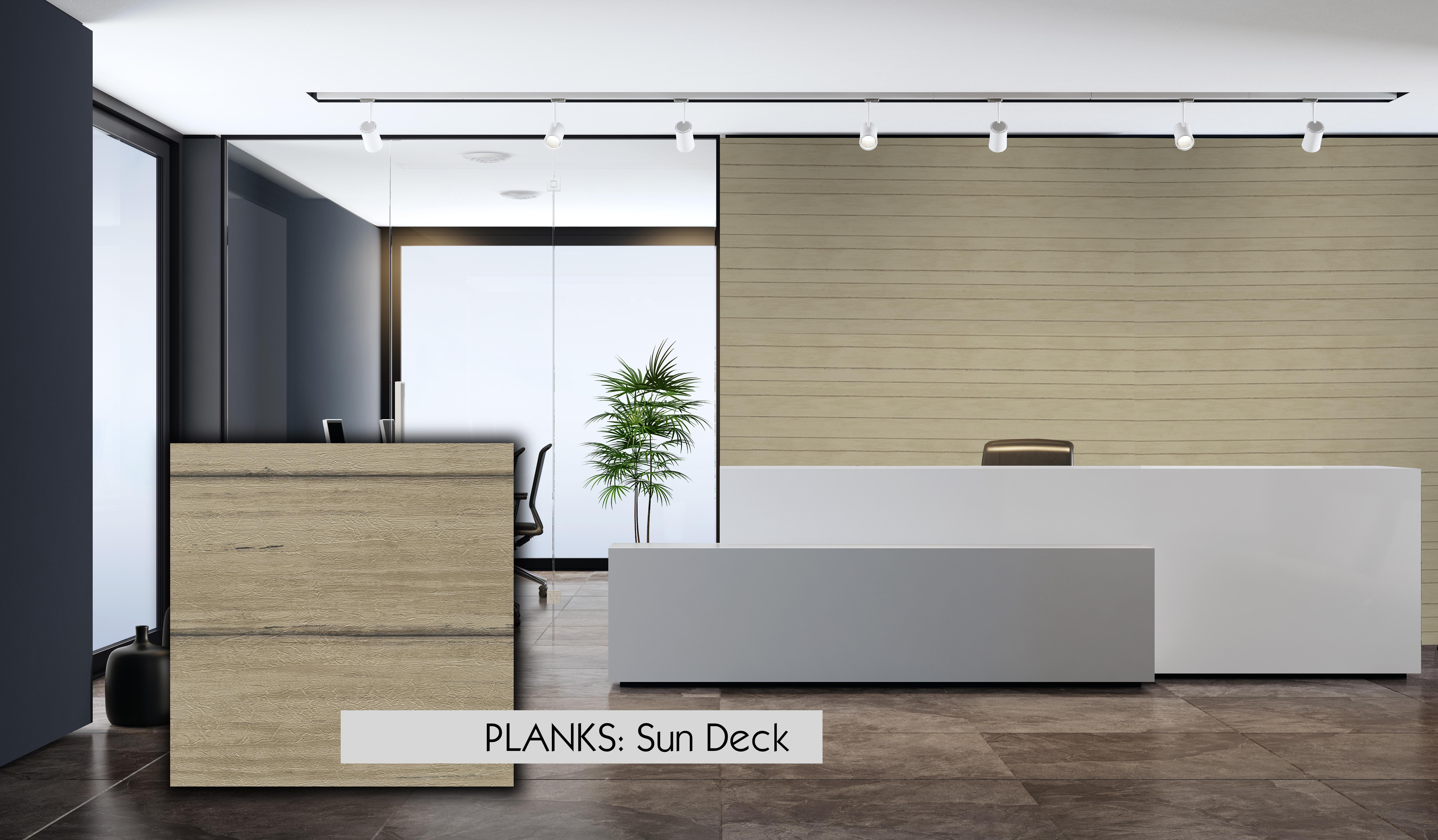 Planks Sun Deck Wallcovering