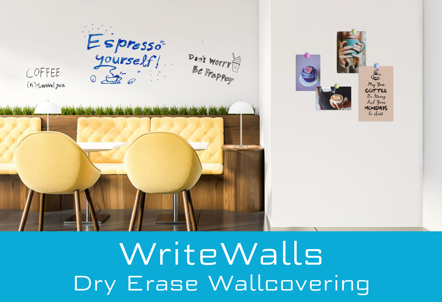 WriteWalls Dry Erase Wallcovering from LEVEY Wallcoverings